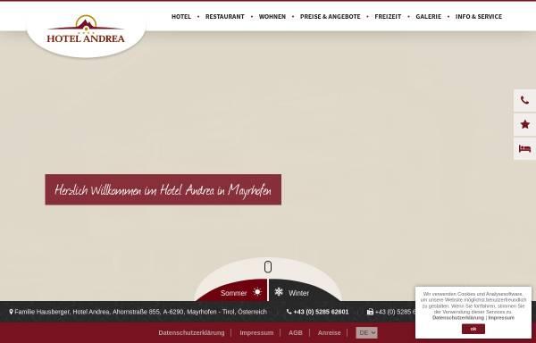 Vorschau von www.hotel-andrea.com, Hotel Andrea Mayrhofen