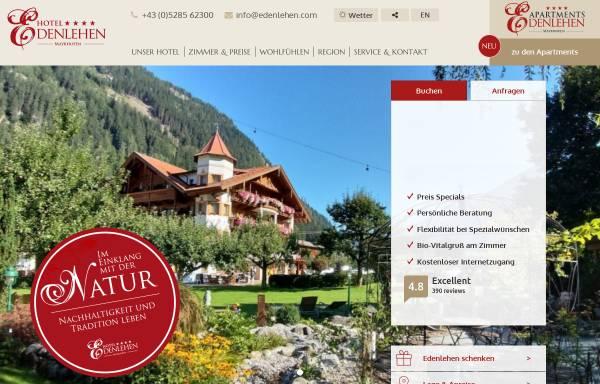 Vorschau von www.edenlehen.com, Hotel Edenlehen