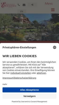 Vorschau der mobilen Webseite www.edenlehen.com, Hotel Edenlehen