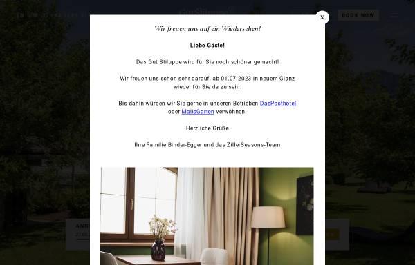 Vorschau von www.gutshof.cc, Hotel Gutshof Zillertal