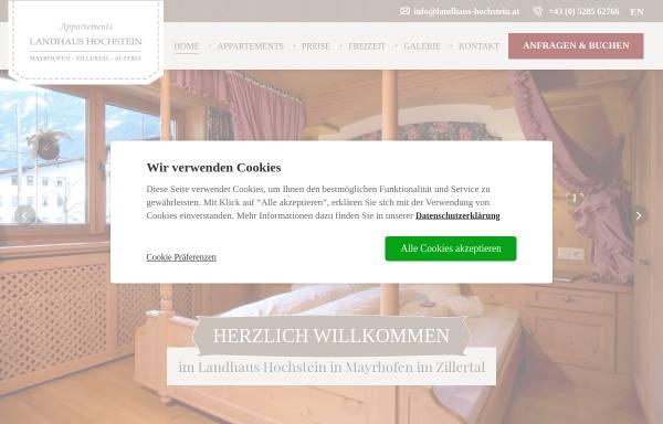 Vorschau von www.landhaus-hochstein.at, Landhaus Hochstein