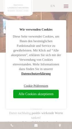 Vorschau der mobilen Webseite www.landhaus-hochstein.at, Landhaus Hochstein