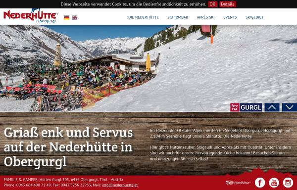 Vorschau von www.nederhuette.at, Nederhütte