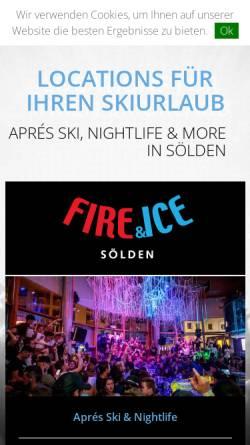 Vorschau der mobilen Webseite www.apresskisoelden.at, Sölden Apres Ski -