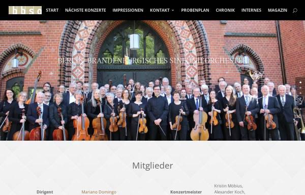 Vorschau von www.bbso.de, Berlin-Brandenburgisches Sinfonieorchester e.V.