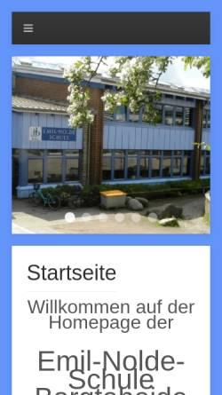 Vorschau der mobilen Webseite www.emil-nolde-schule.de, Emil-Nolde-Schule