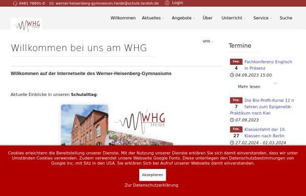 Vorschau von www.whg-heide.de, Werner-Heisenberg-Gymnasium