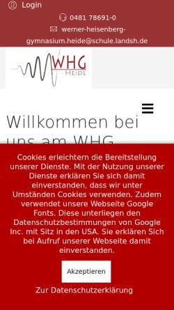Vorschau der mobilen Webseite www.whg-heide.de, Werner-Heisenberg-Gymnasium