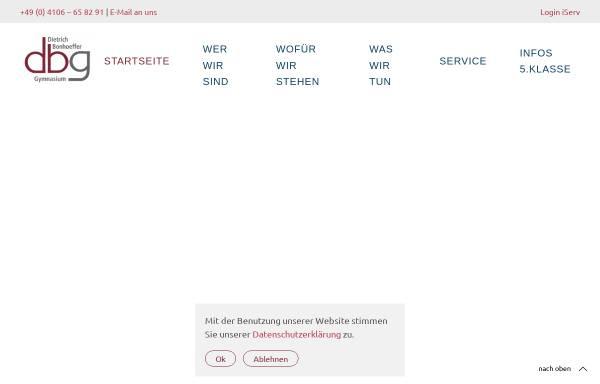 Vorschau von www.dbgq.org, Dietrich-Bonhoeffer-Gymnasium