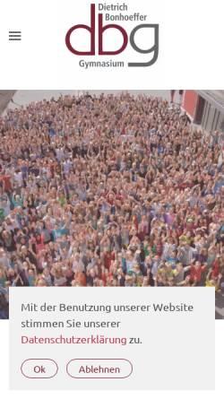 Vorschau der mobilen Webseite www.dbgq.org, Dietrich-Bonhoeffer-Gymnasium