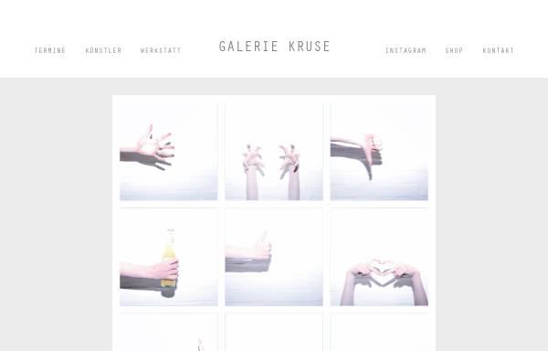 Vorschau von www.galerie-kruse-flensburg.de, Galerie Kruse