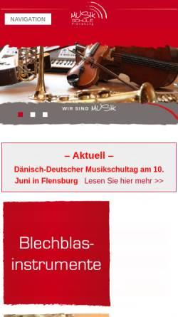 Vorschau der mobilen Webseite www.musikschule-flensburg.de, Musikschule Flensburg