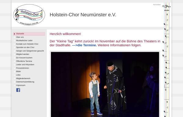 Vorschau von www.holstein-chor.de, Holstein-Chor Neumünster e.V.