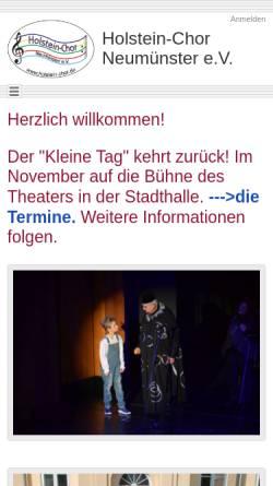 Vorschau der mobilen Webseite www.holstein-chor.de, Holstein-Chor Neumünster e.V.