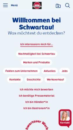Vorschau der mobilen Webseite www.schwartauer-werke.de, Schwartauer Werke GmbH & Co.KGaA