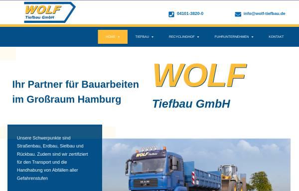 Vorschau von www.wolf-tiefbau.de, Wolf Tiefbau GmbH