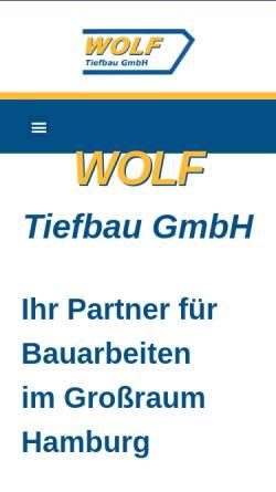 Vorschau der mobilen Webseite www.wolf-tiefbau.de, Wolf Tiefbau GmbH