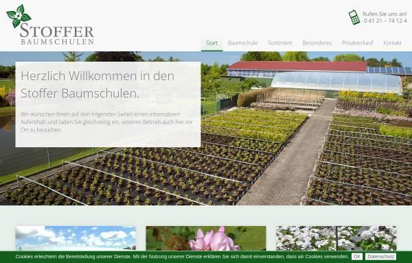 Vorschau von www.stoffer-baumschulen.de, Stoffer Baumschulen GbR