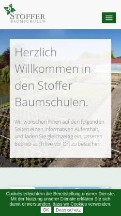 Vorschau der mobilen Webseite www.stoffer-baumschulen.de, Stoffer Baumschulen GbR