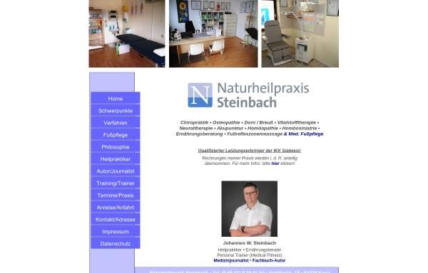 Vorschau von www.naturheilpraxis-steinbach.de, Heilpraktiker Johannes Wilhelm Steinbach