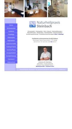 Vorschau der mobilen Webseite www.naturheilpraxis-steinbach.de, Heilpraktiker Johannes Wilhelm Steinbach