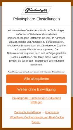 Vorschau der mobilen Webseite www.glindmeyer.de, Glindmeyer