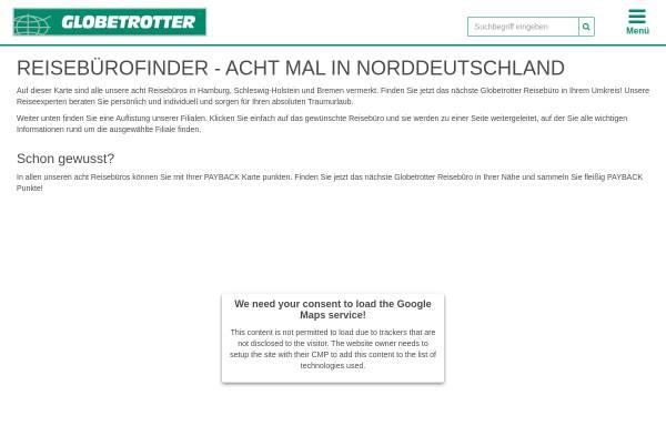 Vorschau von www.reiseland-globetrotter.de, Globetrotter Reisebüro