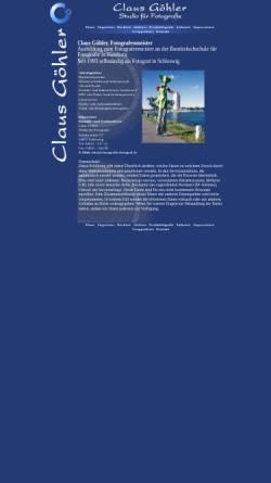 Vorschau der mobilen Webseite www.clausgoehlerfotograf.de, Claus Göhler, Studio für Fotografie