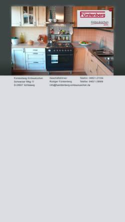 Vorschau der mobilen Webseite www.fuerstenberg-einbaukuechen.de, Fürstenberg Einbauküchen