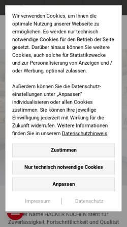 Vorschau der mobilen Webseite www.hansens-kuechen.de, Hansens Küchen