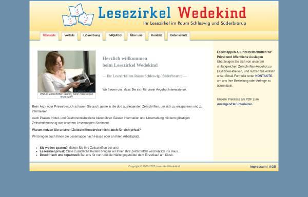Vorschau von www.lesezirkel-wedekind.de, Lesezirkel Wedekind