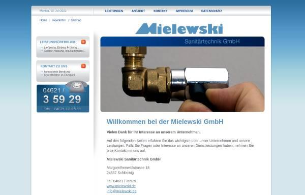 Vorschau von www.mielewski.de, Mielewski Sanitärtechnik GmbH (Schleswig)