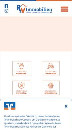 Vorschau der mobilen Webseite www.vr-immobilien-nord.de, R&V Immobilien eG
