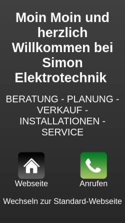 Vorschau der mobilen Webseite www.simon-elektrotechnik.de, Simon Elektrotechnik