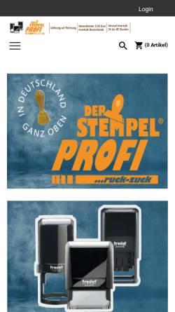 Vorschau der mobilen Webseite stempelprofi.de, Der Stempel Profi