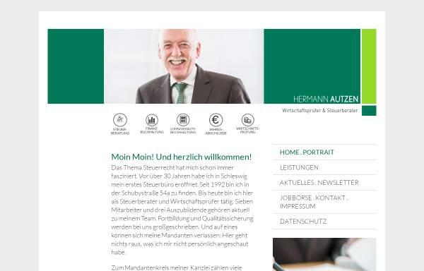 Vorschau von www.steuerberater-autzen.de, Steuerberater und Wirtschaftsprüfer Hermann Autzen