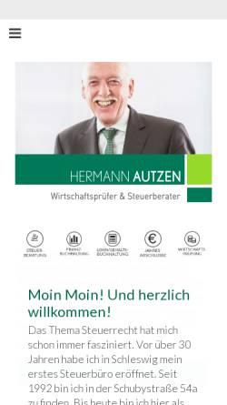Vorschau der mobilen Webseite www.steuerberater-autzen.de, Steuerberater und Wirtschaftsprüfer Hermann Autzen