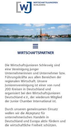 Vorschau der mobilen Webseite www.wj-schleswig.de, Wirtschaftsjunioren Schleswig