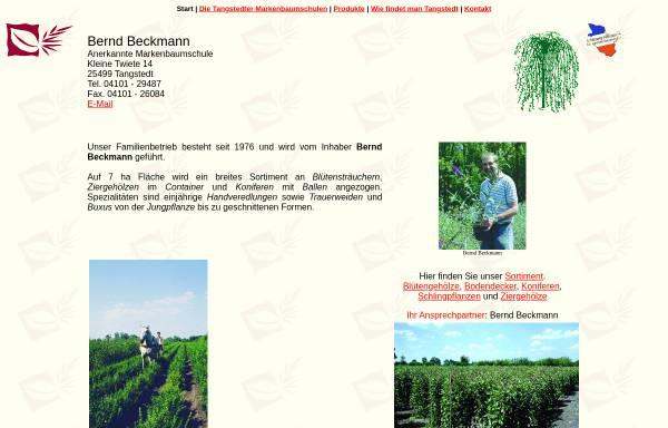 Vorschau von www.beckmann-baumschulen.de, Baumschule Bernd Beckmann
