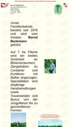 Vorschau der mobilen Webseite www.beckmann-baumschulen.de, Baumschule Bernd Beckmann