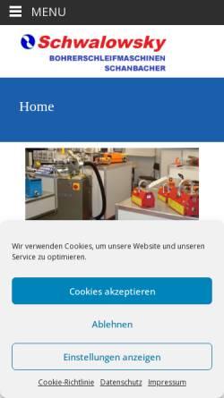 Vorschau der mobilen Webseite www.schwalowsky.de, Volker Schwalowsky