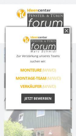 Vorschau der mobilen Webseite www.fenster-tueren-forum.de, Fenster- & Türen Forum