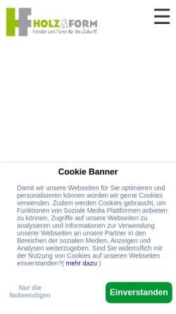 Vorschau der mobilen Webseite www.holz-und-form.de, Holz & Form