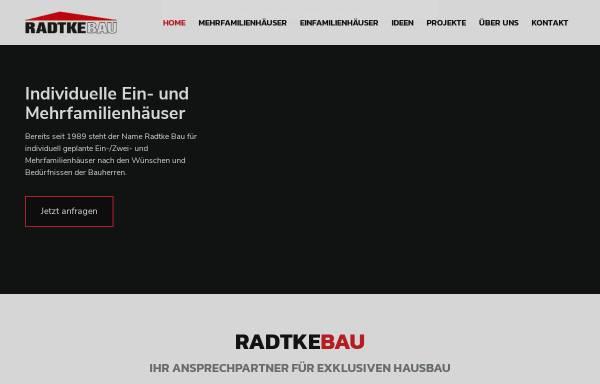 Vorschau von www.radtkebau.de, Radtke Bau GmbH
