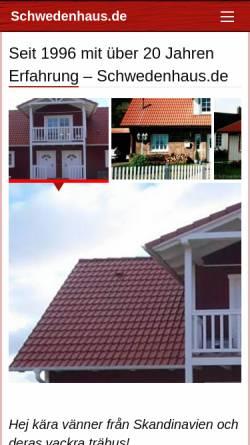 Vorschau der mobilen Webseite www.schwedenhaus.de, Schwedenhaus.de, Axel Kukuk