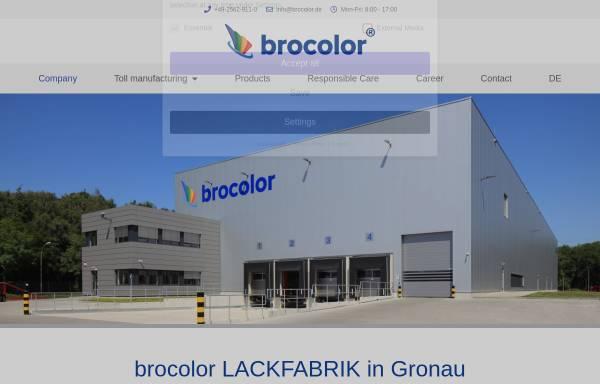 Vorschau von www.brocolor.de, Brocolor Lackfabrik GmbH