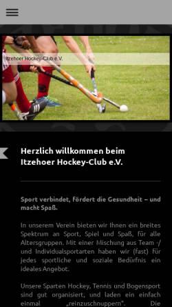 Vorschau der mobilen Webseite www.ihc-iz.de, Itzehoer Hockey-Club e.V.
