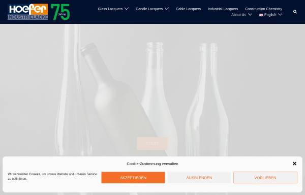 Vorschau von www.hoefer.de, Höfer GmbH Lackfabrik