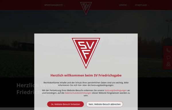 Vorschau von www.svfriedrichsgabe.de, SV Friedrichsgabe von 1955 e.V.