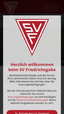 Vorschau der mobilen Webseite www.svfriedrichsgabe.de, SV Friedrichsgabe von 1955 e.V.